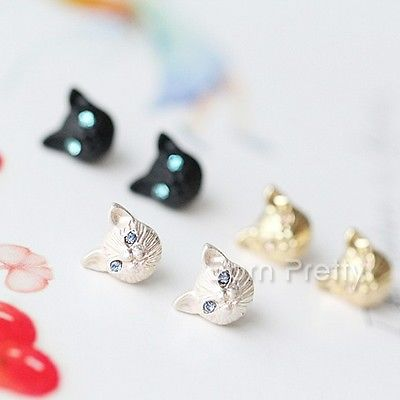 Cute Kitty Studs