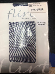 Funky Navy Blue Fishnet Tights One Size