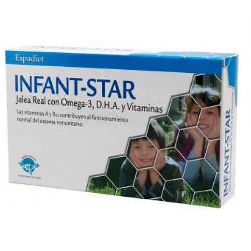 Infant Star, Jalea Real Forte con Omega 3 y DHA 20 viales
