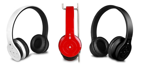 Bluetooth headphones in 3 colors