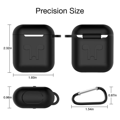 [Fathers Day Sale] Airpod 2019 Protective Case, Precision Size, 3mm skin, 360 protection, metal Keychain hook, for Airpods1 & Airpods 2