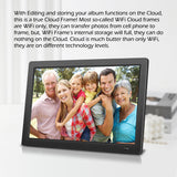 "19"" Cloud Frame      Model: CD1900WV+ - True Cloud Frame with Editable Cloud Albums, 20GB Free Cloud Storage, Computer or APP Remote Manage, Easy Setup, Full Features & Functions, advanced technology than WiFi frames, quality guaranteed"