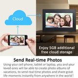 "10"" Cloud Frame   Model: CPF1032 - True Cloud Frame with Editable Cloud Albums, 20GB Free Cloud Storage, Computer or APP Remote Manage, Easy Setup, Full Features & Functions, advanced technology than WiFi frames, quality guaranteed"