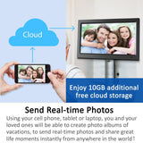 14 inch Smart WiFi Cloud Digital Photo Frame CPF1510+ - free Cloud Storage, real-time photos, Movie, Social Media, Browser, all APPs