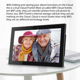 "14"" Cloud Frame   Model: CPF1518 - True Cloud Frame with Editable Cloud Albums, 20GB Free Cloud Storage, Computer or APP Remote Manage, Easy Setup, Full Features & Functions, advanced technology than WiFi frames, quality guaranteed"