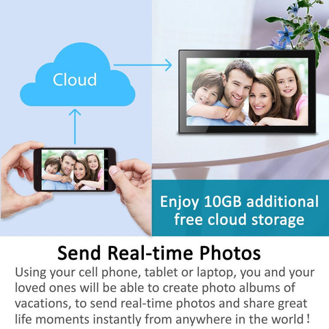14 Inch Smart Wifi Cloud Digital Photo Frame Cpf1518 W Built In