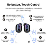 Valentines Day Sale: Alpha Digital Touch control DT-8 Wireless Ear-buds, Bluetooth 5.0, Easier Pairing, LED Power Display, Noise Canceling, True Stereo Bass Sound Quality, Dust-proof, Waterproof,12 hours play time, storage case for charging