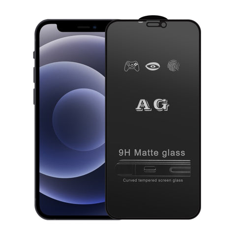 AG Matte Full coverage Screen Protector for iPhone12/12Pro, 9H Tempered Glass Screen, Touch Sensitive, Hydrophobic and oleo-phobic coating, Anti-fingerprint, Dirt- proof, Anti Scratch, Easy Install