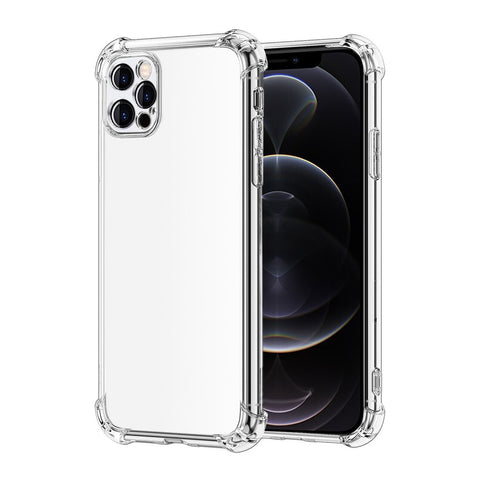 Alpha Digital Crystal Clear Case for iPhone 12Pro, Shock Absorption Bumper, Soft Flexible TPU, Anti-Drop, Anti-Fingerprint, 3600 Shockproof, Screen & Camera Protective, Transparent Protective Back Cover, Protective Case for iPhone 12Pro (2020)