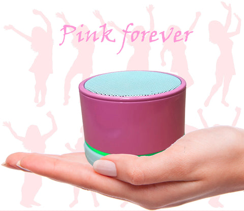 Pink Portable Bluetooth Speaker SBK011