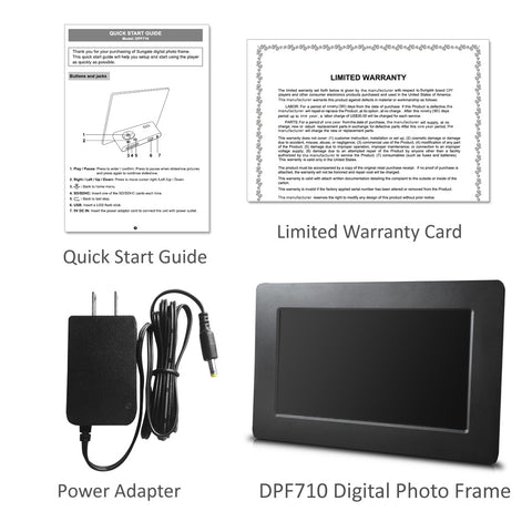Sungale DPF710 - 7in Digital Photo Frame with Ultra-slim Design ...
