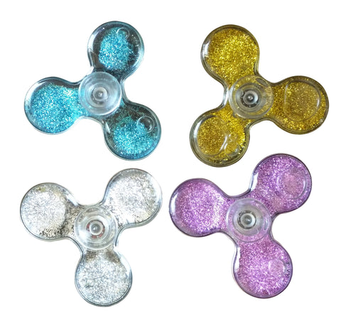 Flowing sand Tri-vane Fidget Spinner, flashing during spin, Durable Bearing, 1 Min Spin, help to improves attention, behavior regulation, emotional control, memory, organizational skills, Reduces stress and anxiety. Local stock, Delivery in 3-7 days