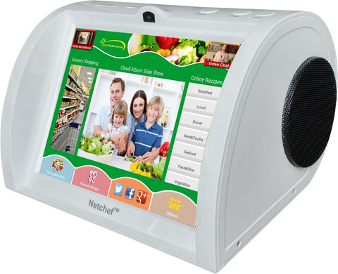 Netchef G3 (NC830) Smart Kitchen Gateway - Voice Search Recipes and Groceries, Home Surveillance, Video chat and much more