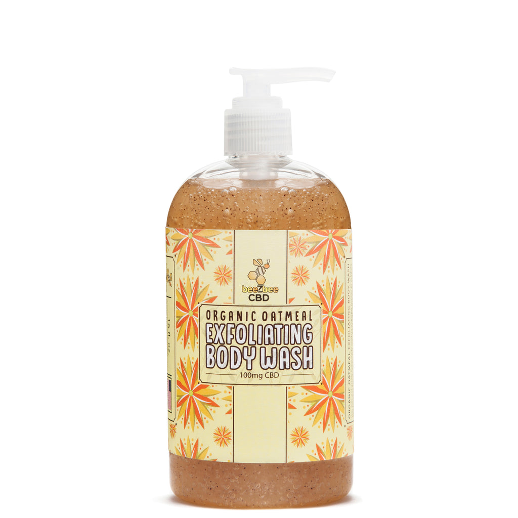 beeZbee CBD Exfoliating Body Wash 100mg - CBD Kratom