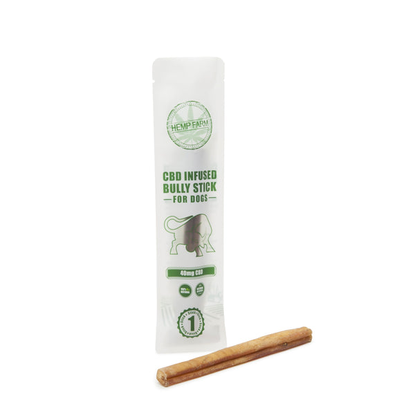 Hemp Farm CBD Bully Sticks for Dogs Single 40mg - CBD Kratom