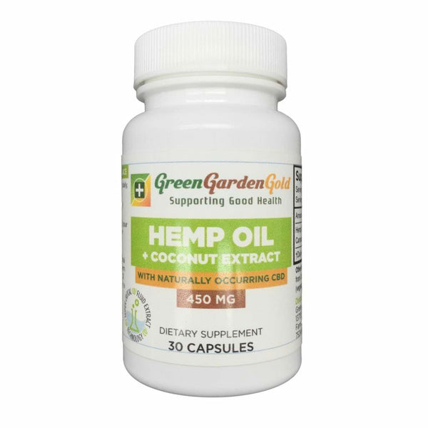Green Garden Gold Hemp Oil + Coconut Extract Capsules 450mg