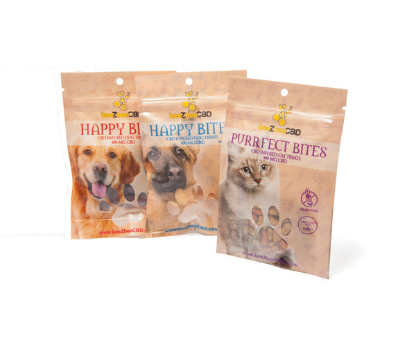 beeZbee CBD Happy Bites Pet Treats 300mg - CBD Kratom