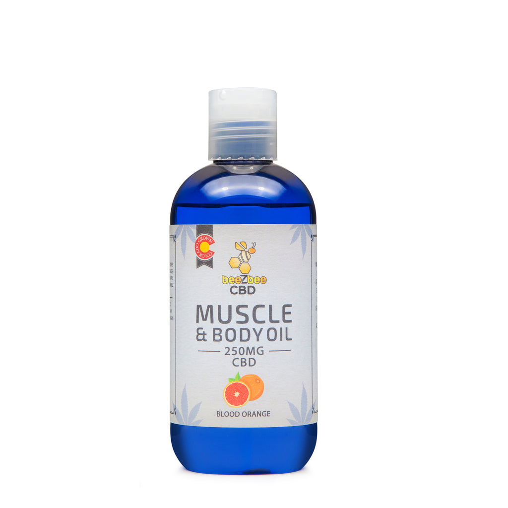 beeZbee CBD Muscle and Body Oil 250mg - Shop CBD Kratom