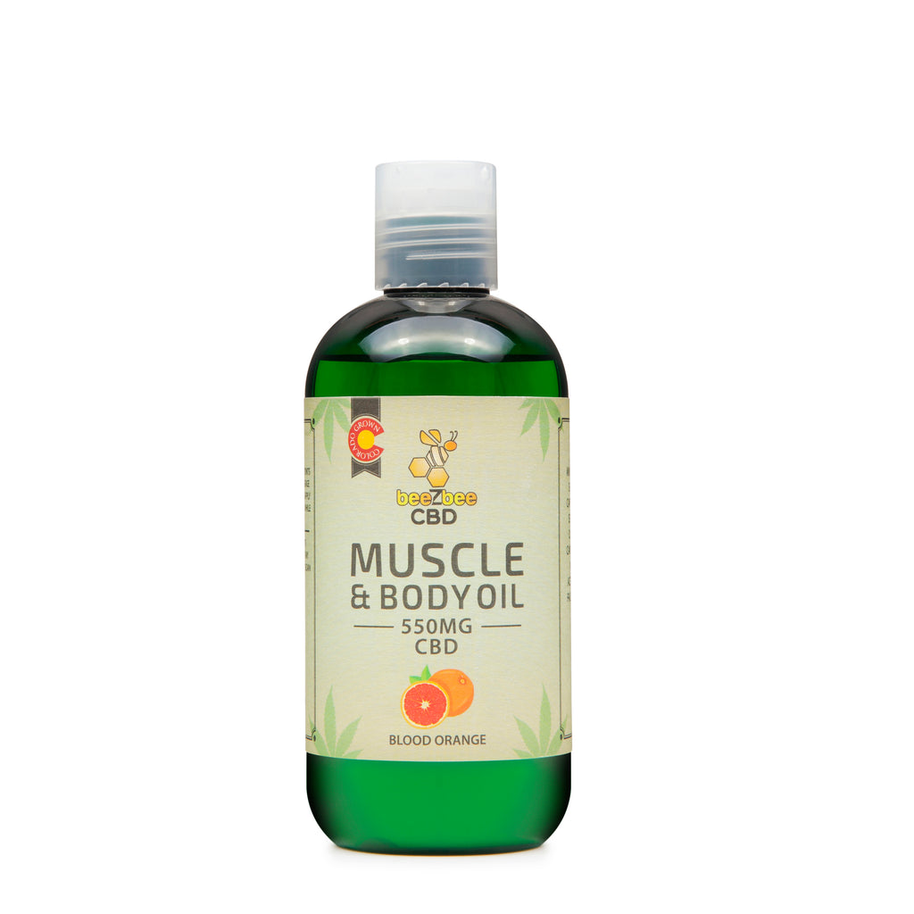 beeZbee CBD Muscle and Body Oil 550mg - CBD Kratom