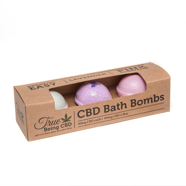 True Being CBD Bath Bomb 3 Pack - CBD Kratom
