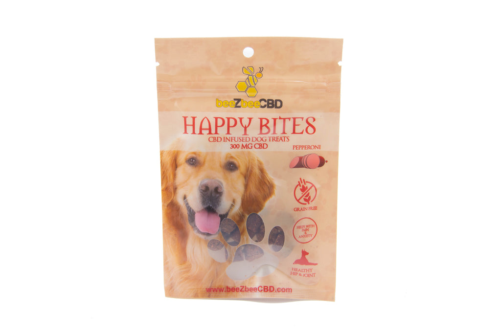 beeZbee CBD Happy Bites Pet Treats 300mg - Shop CBD Kratom