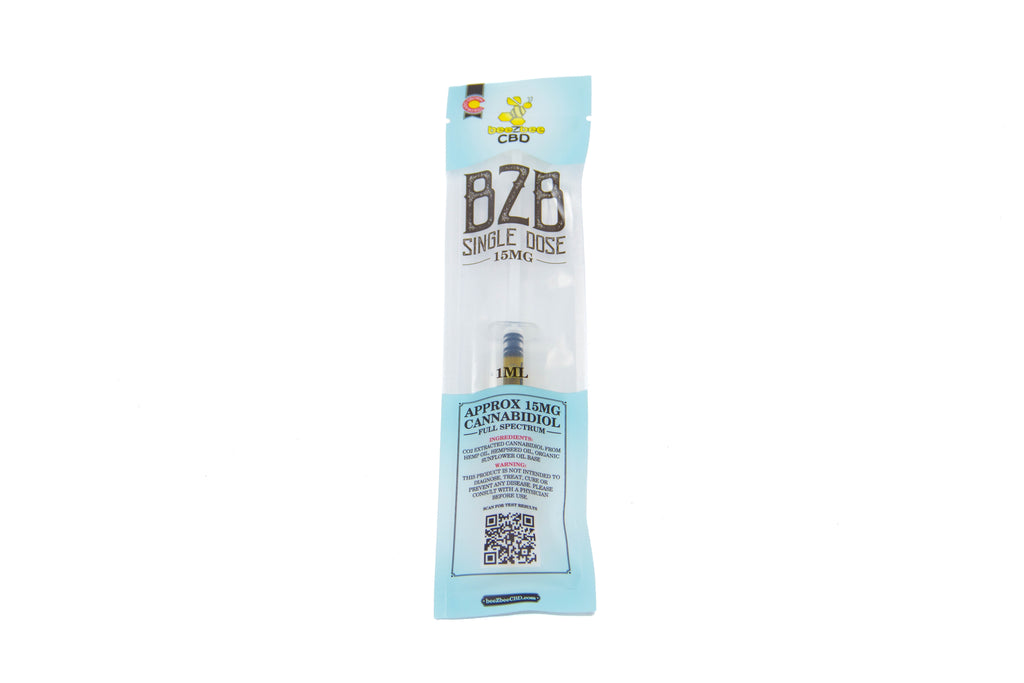beeZbee CBD Single Dose Syringe 15mg - CBD Kratom