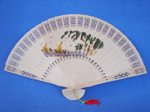 Sandal Wood Hand Fans - Asianly