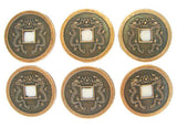6 of Double Dragon Coins (I ching Coins) - Asianly