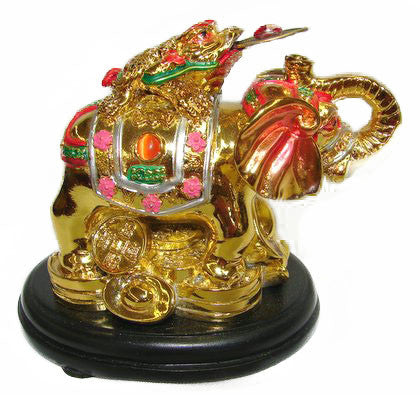 Colorful Money Frog on Elephant - Asianly