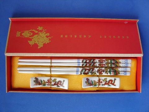 Chinese Dragon Porcelain Chopsticks - Asianly