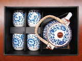 Chinese Style Blue Tea Set - Asianly