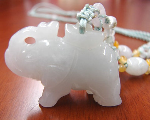 Jade Elephant Necklace - Asianly