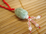 Jade Bean Necklace - Asianly