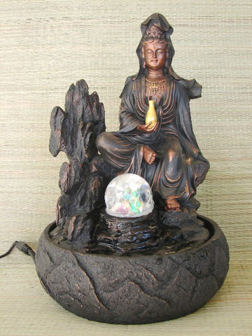 Water Fountain with Guan Yin - Asianly