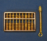 Golden Abacus with Golden Pen - Asianly