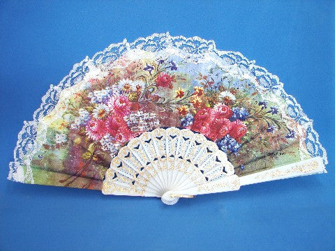 White Lace Spanish Hand Fans - Asianly