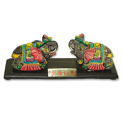 Pair of Elephant Statues - Asianly