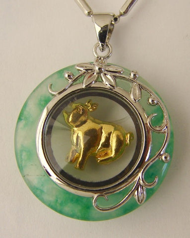 Golden Pig Pendant - Asianly