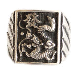 Silver Dragon Ring for Men - Asianly