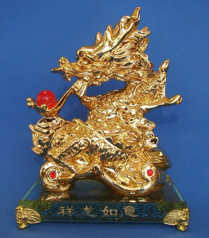 Golden Dragon on Ru Yi - Asianly