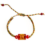 5 Element String with Red Omani Bead - Asianly