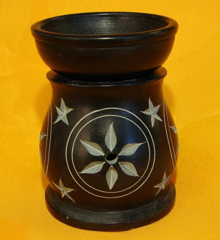 Black Stone Aroma Lamp for Oil - Asianly