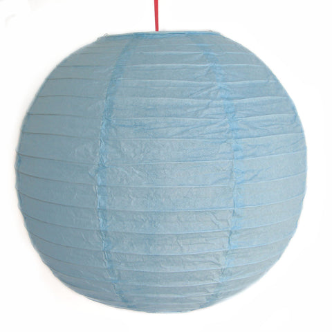 2 of Sky Blue Paper Lanterns - Asianly