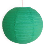 2 of Green Paper Lanterns - Asianly