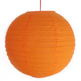 2 of Orange Paper Lanterns - Asianly