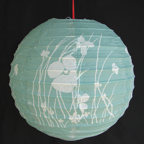 2 of Green Paper Lanterns with Pictures - Asianly