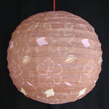 2 of Brown Paper Lanterns with Flower Pictures - Asianly