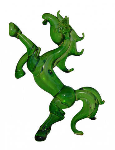 Green Glass Horse Statue - Asianly