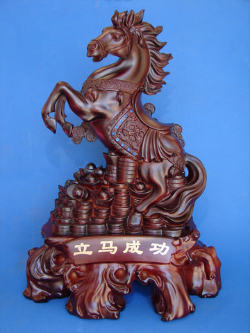 Big Jumping up Horse Statue for Success - Asianly