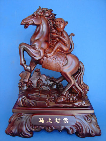 Big Horse Statue Carrying Monkey for Promotion - Asianly